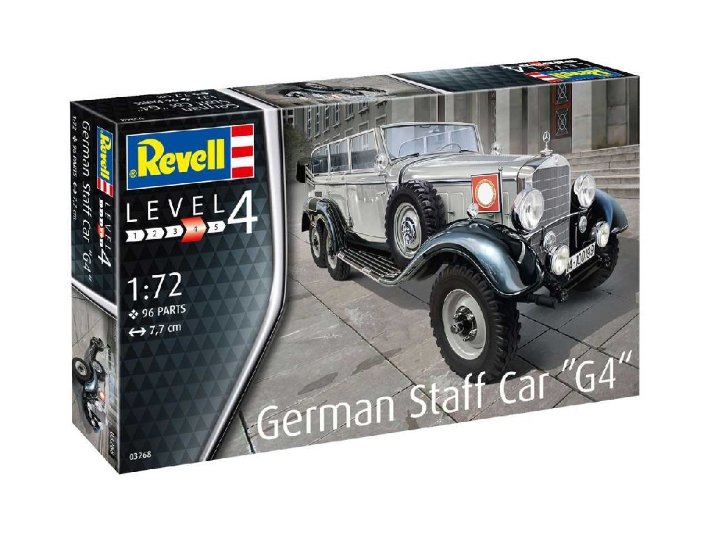 1/72 Plastikový model - auto 03268 - German Staff Car G4