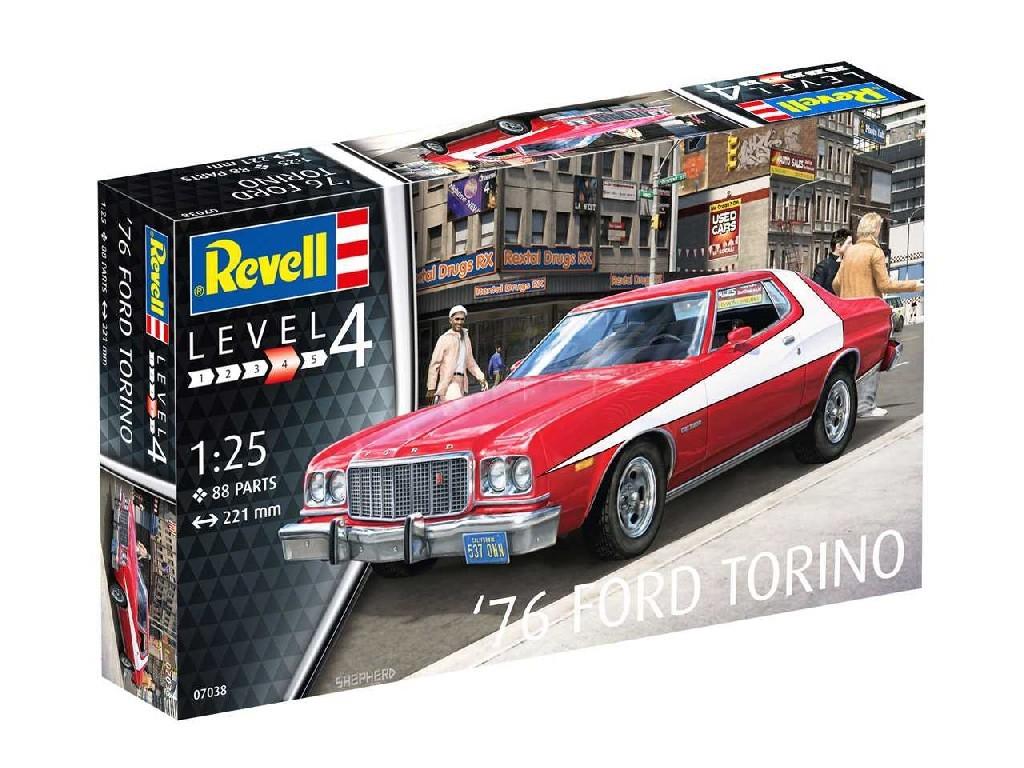 1/25 Plastikový model - auto 07038 - 76 Ford Torino