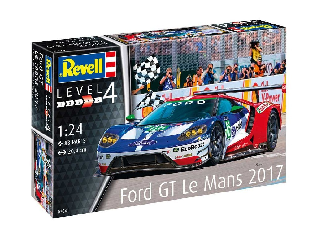 1/24 Plastikový model - auto 07041 - Ford GT Le Mans 2017