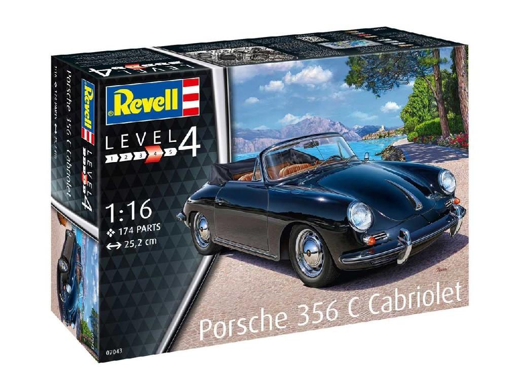 1/16 Plastikový model - auto 07043 - Porsche 356 Cabriolet