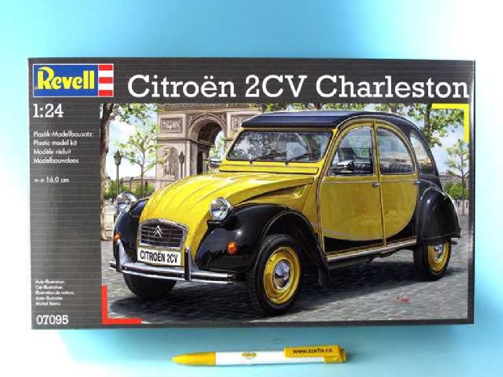 1/24 Plastikový model - auto 07095 - Citroën 2CV