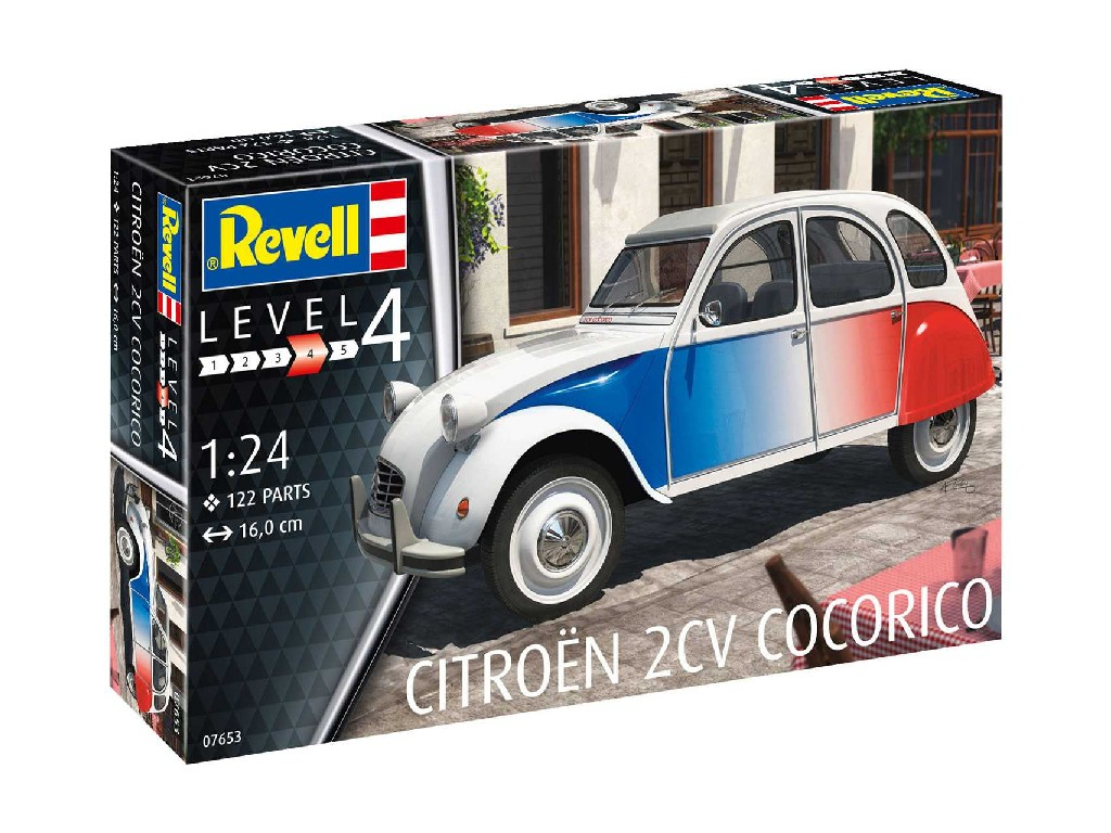 1/24 Plastikový model - auto 07653 - Citroen 2 CV Cocorico