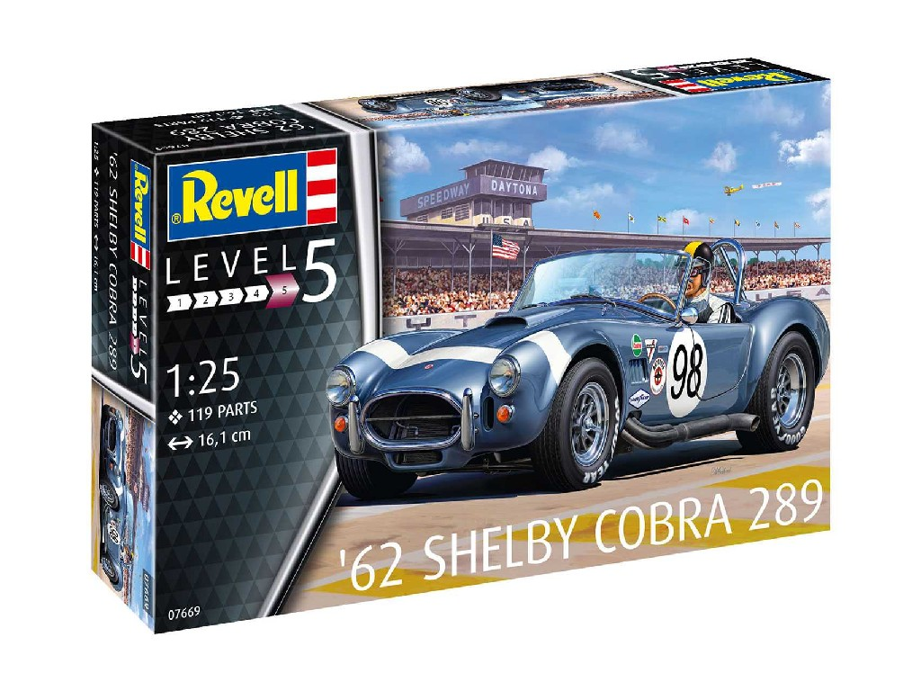 1/25 Plastikový model - auto 07669 - 62 Shelby Cobra 289