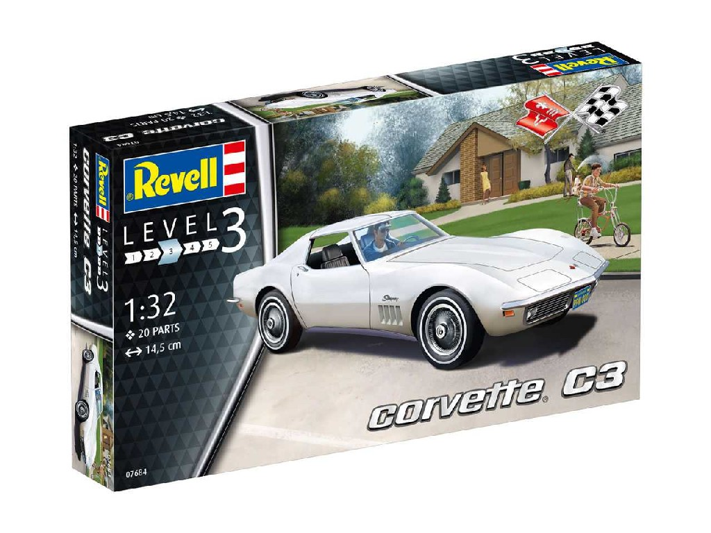 1/32 Plastikový model - auto 07684 - Corvette C3