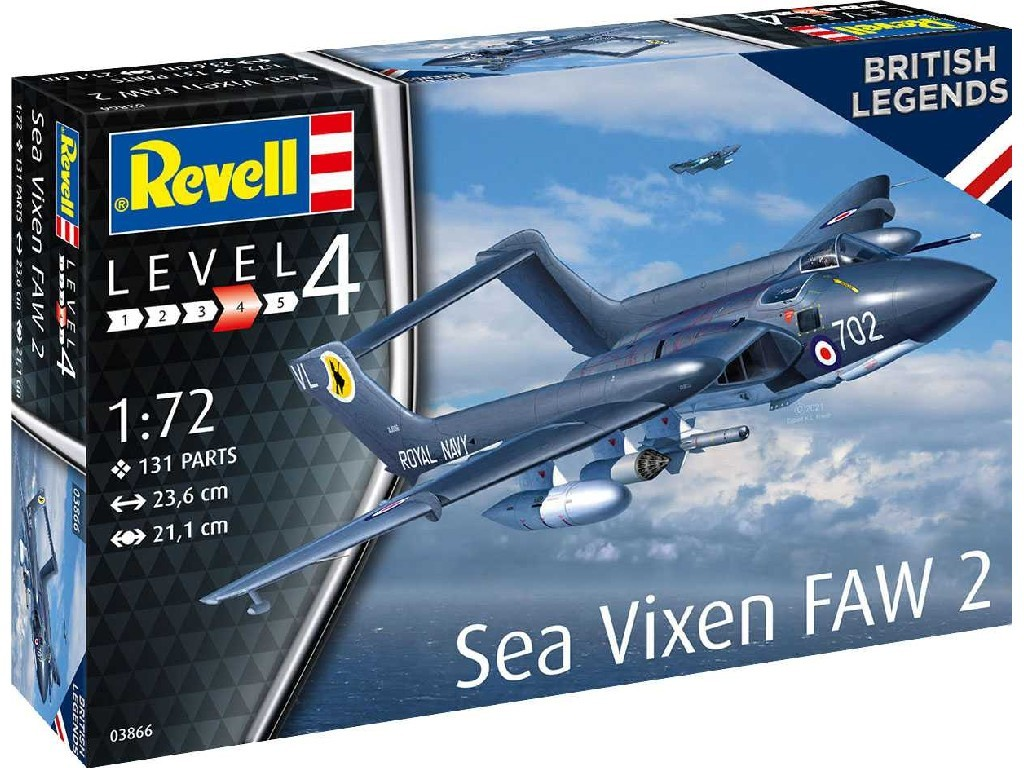 Revell - 03866 - Sea Vixen FAW 2 70th Anniversary 1:72