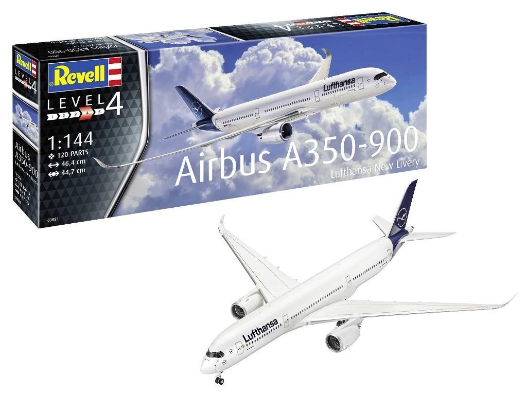 1/144 Plastikový model - letadlo 03881 - Airbus A350-900 Lufthansa New Livery