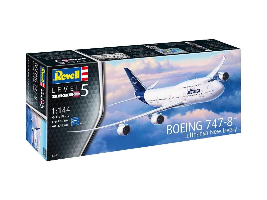 1/144 Plastikový model - letadlo 03891 - Boeing 747-8 Lufthansa New Livery