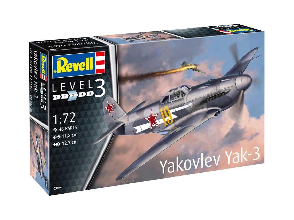 1/72 Plastikový model - lietadlo 03894 - Yakovlev Yak-3