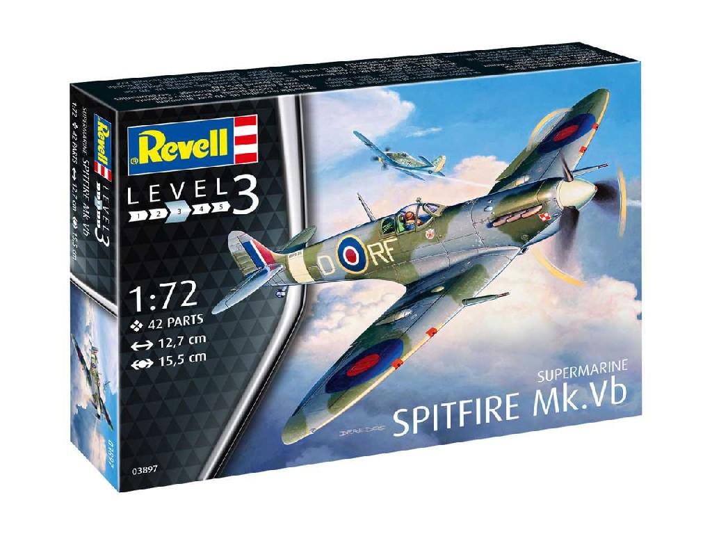 1/72 Plastikový model - lietadlo 03897 - Supermarine Spitfire Mk. Vb