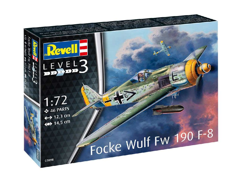 1/72 Plastikový model - lietadlo 03898 - Focke Wulf Fw190 F-8