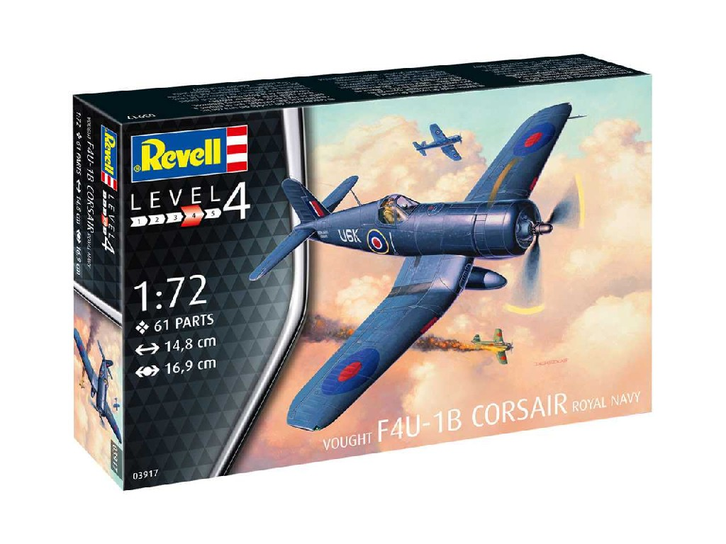 1/72 Plastikový model - lietadlo 03917 - F4U-1B Corsair Royal Navy