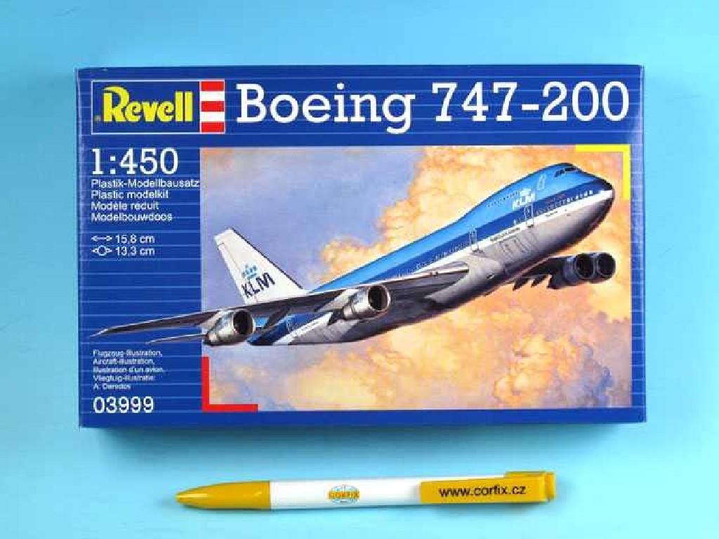 1/450 Plastikový model - letadlo 03999 - Boeing 747-200 Jumbo Jet