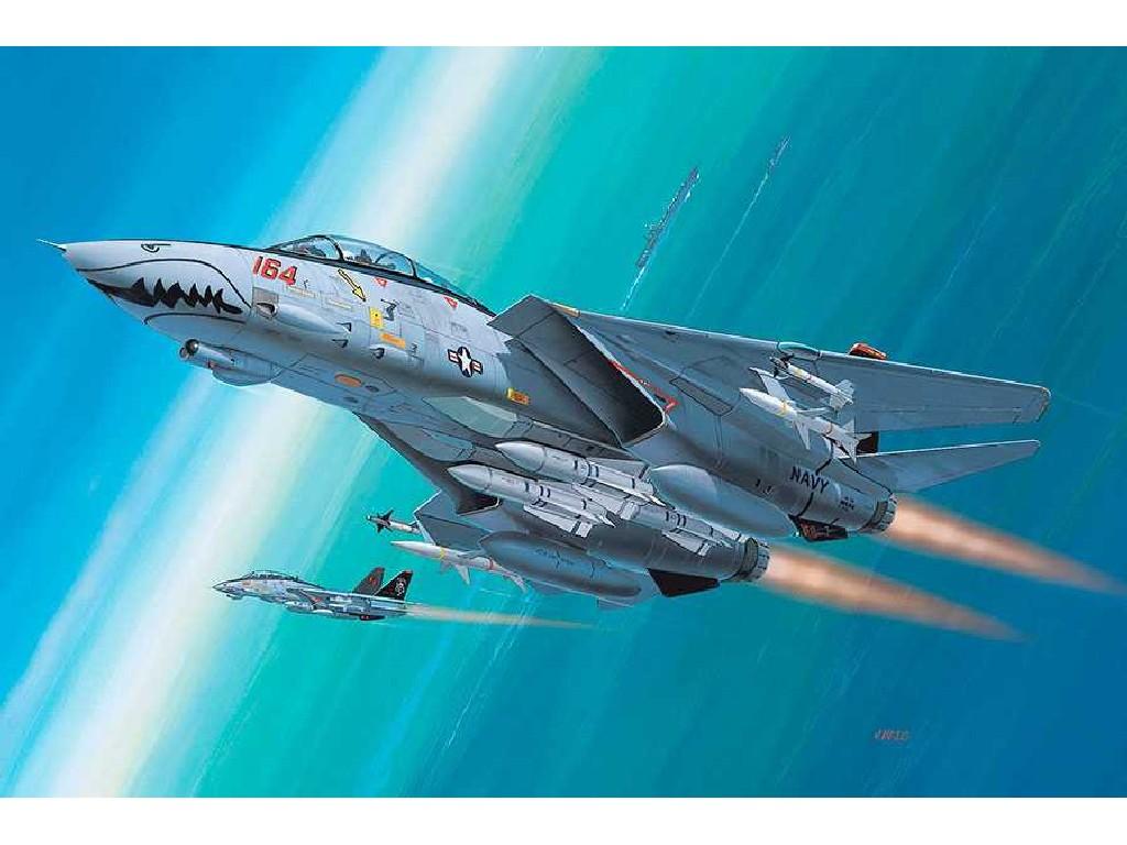 1/144 Plastikový model - lietadlo 04049 - F-14D Super Tomcat