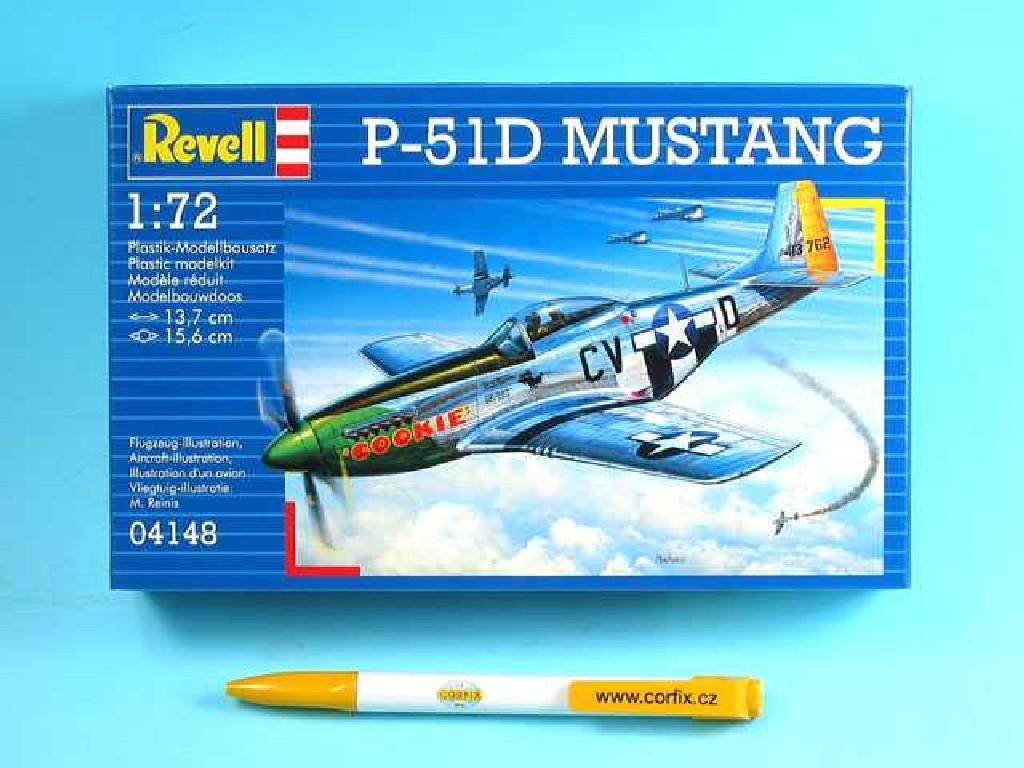 1/72 Plastikový model - lietadlo 04148 - P-51D MUSTANG