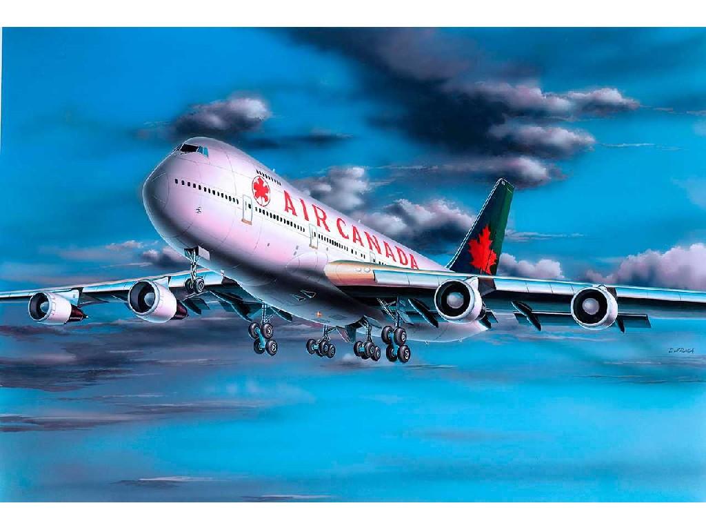 1/390 Plastikový model - letadlo 04210 - Boeing 747-200 Air Canada