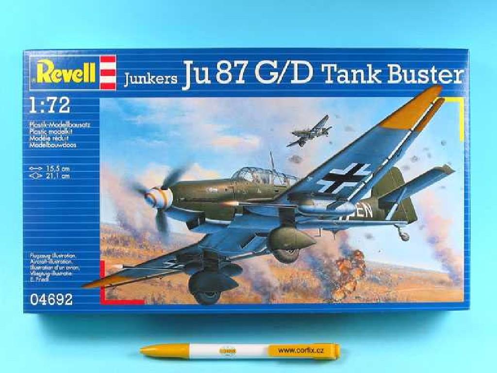 1/72 Plastikový model - lietadlo 04692 - Junkers Ju87 G/D Tank Buster