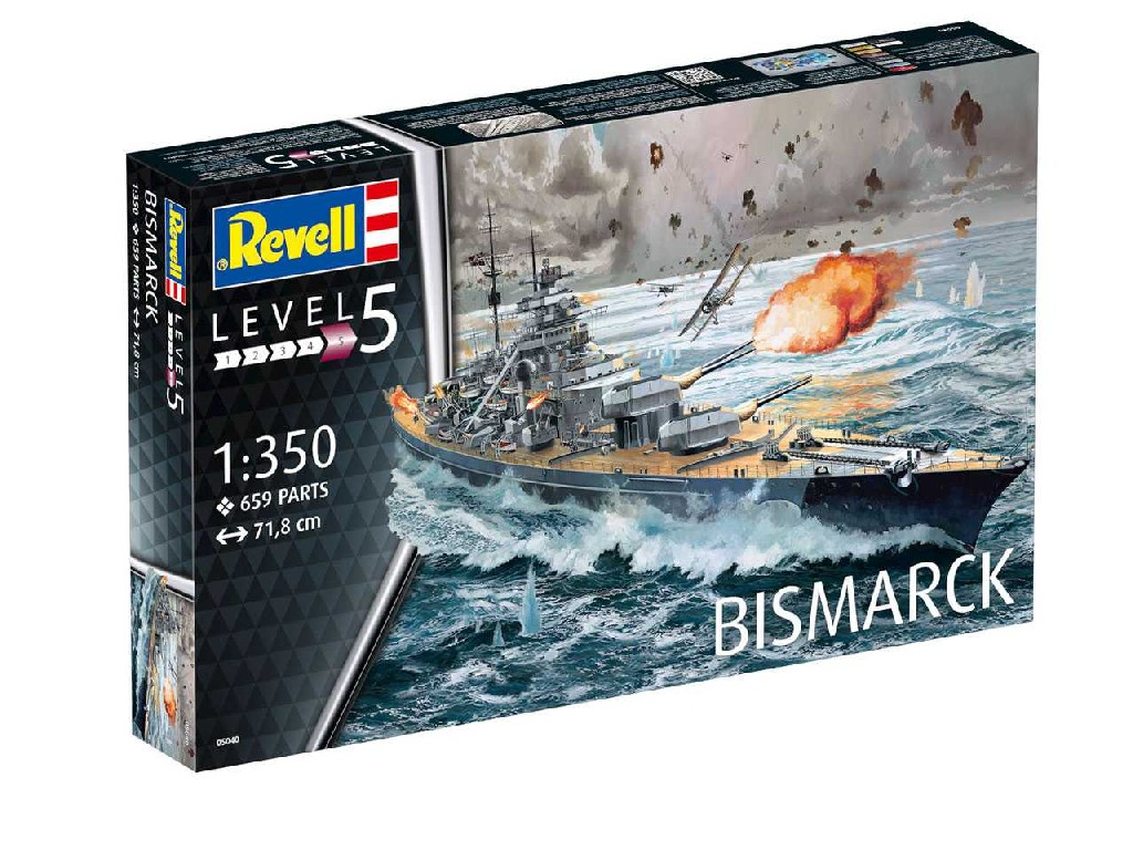 1/350 Plastikový model - loď 05040 - Battleship BISMARCK