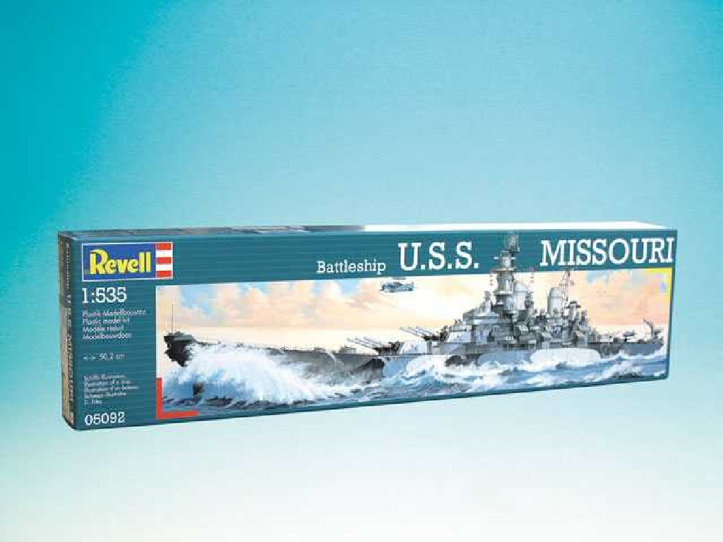 1/535 Plastikový model - loď 05092 - Battleship USS Missouri