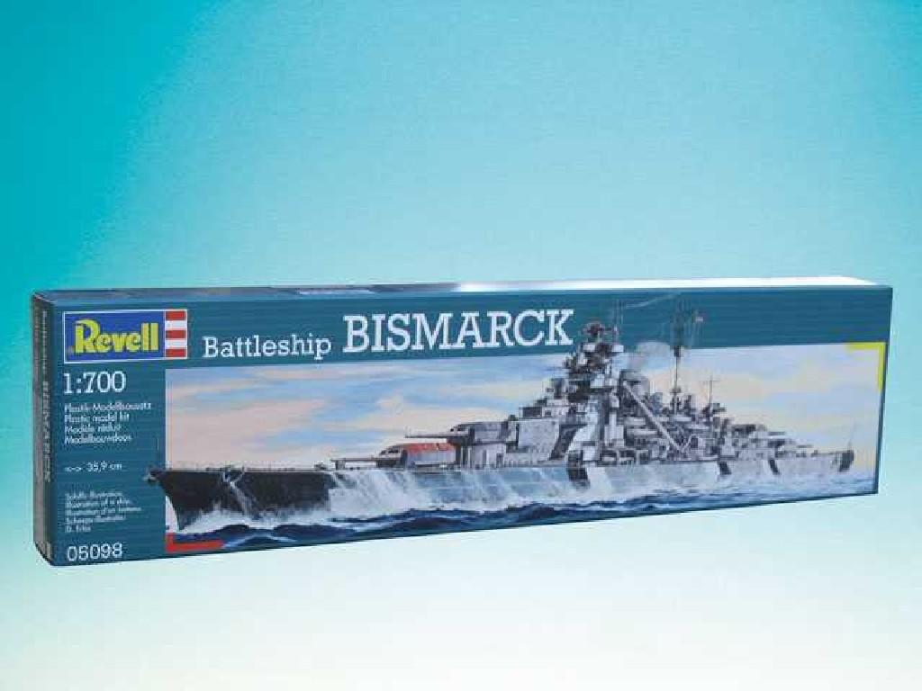 1/700 Plastikový model - loď 05098 - Battleship Bismarck