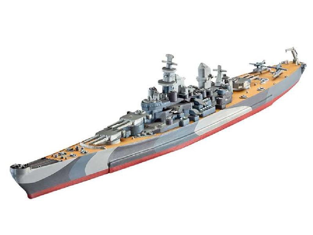 1/1200 Plastikový model - loď 05128 - Battleship U.S.S. Missouri (WWII)