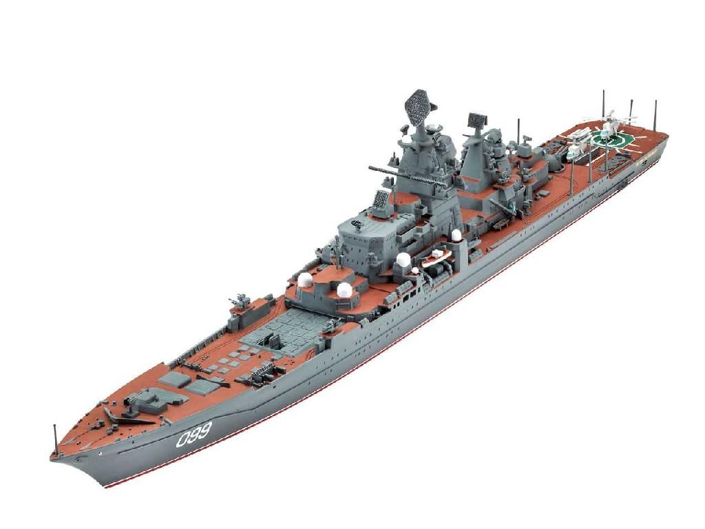 1/700 Plastikový model - loď 05151 - Petr Velikiy