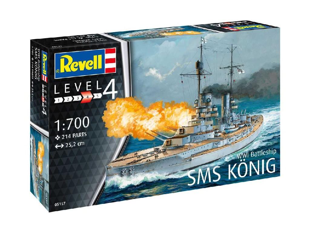 1/700 Plastikový model - loď 05157 - WWI Battleship SMS KÖNIG