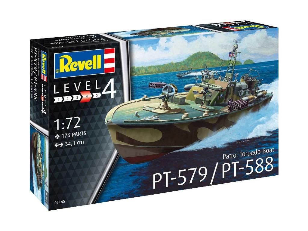 1/72 Plastikový model - loď 05165 - Patrol Torpedo Boat PT-588/PT-579