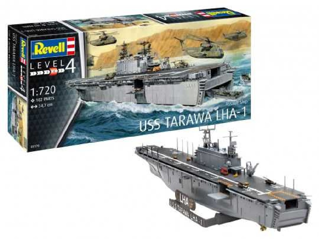 1/720 Plastikový model - loď 05170 - Assault Ship USS Tarawa LHA-1