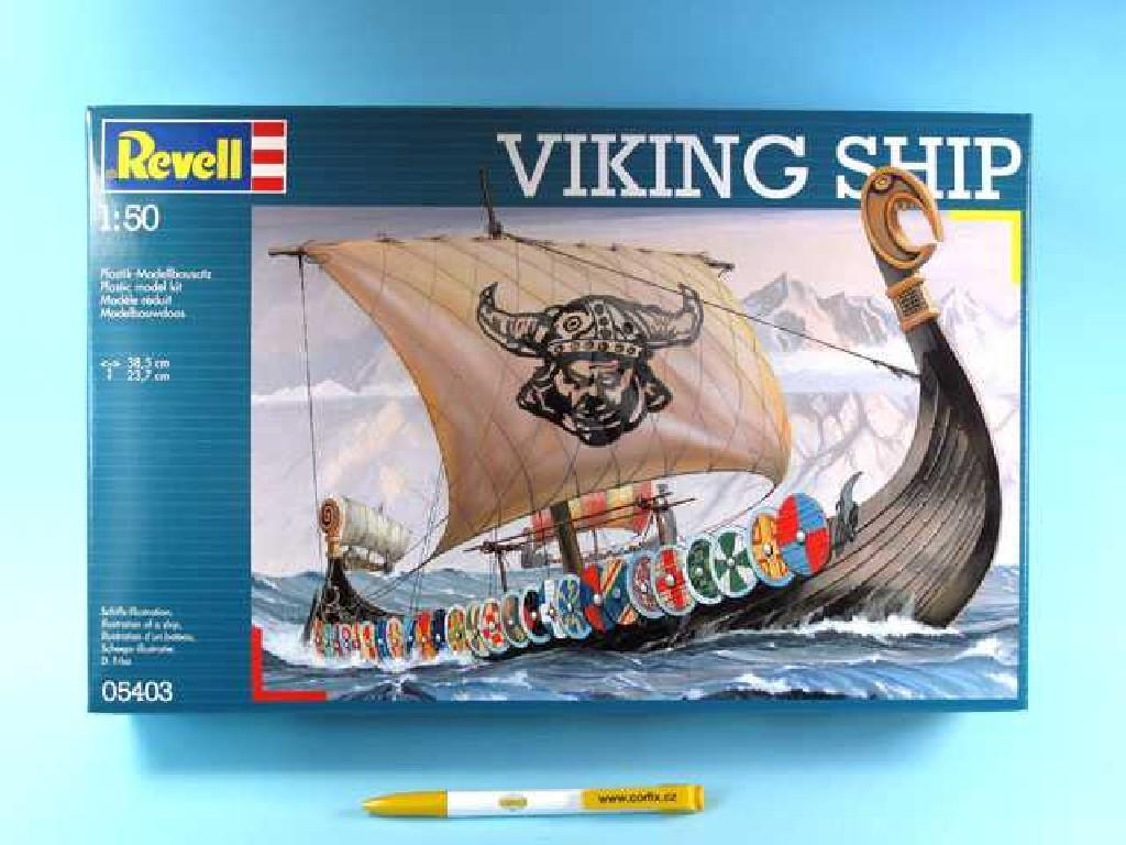 1/50 Plastikový model - loď 05403 - loď Vikingů