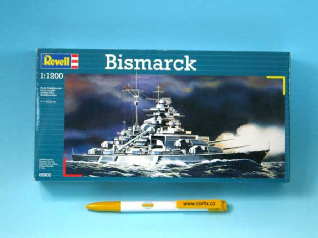 1/1200 Plastikový model - loď 05802 - Bismarck