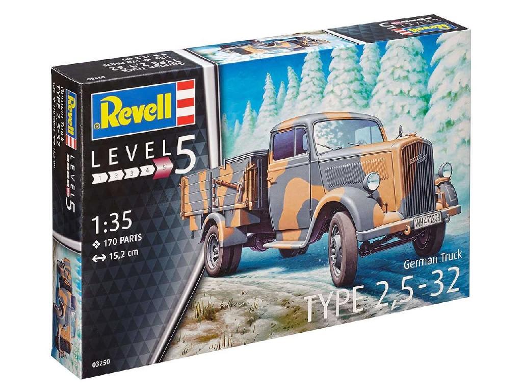 1/35 Plastikový model - military 03250 - German Truck Typ 2,5 - 32