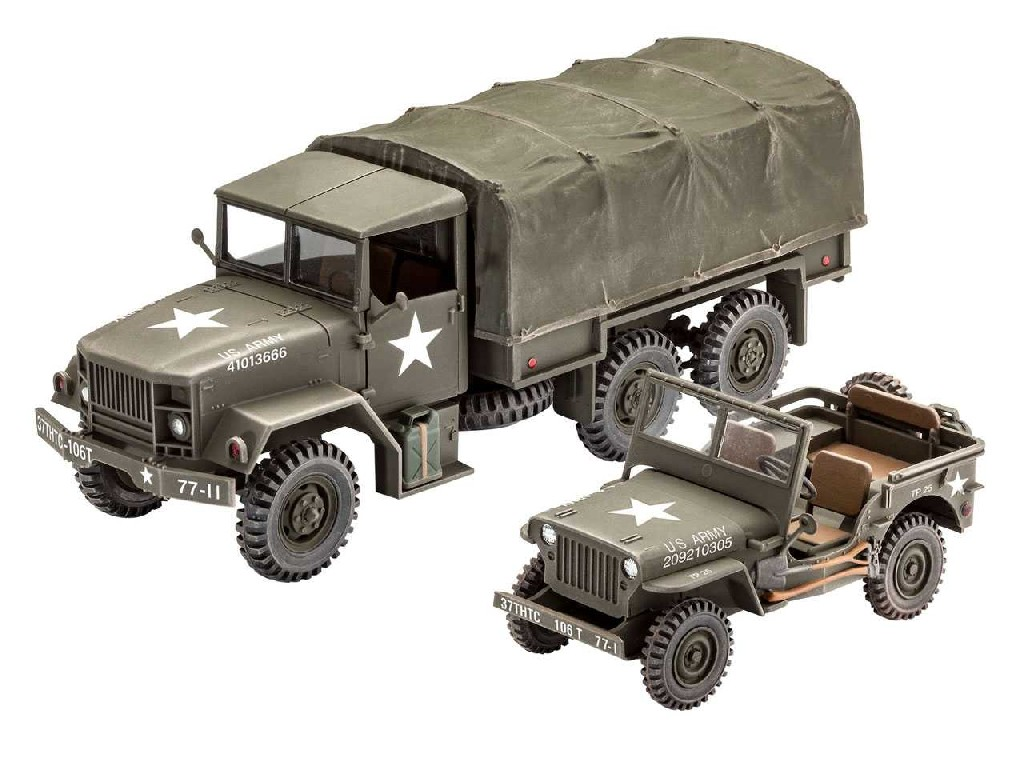 1/35 Plastikový model - military 03260 - M34 Tactical Truck and Off Road Vehicle