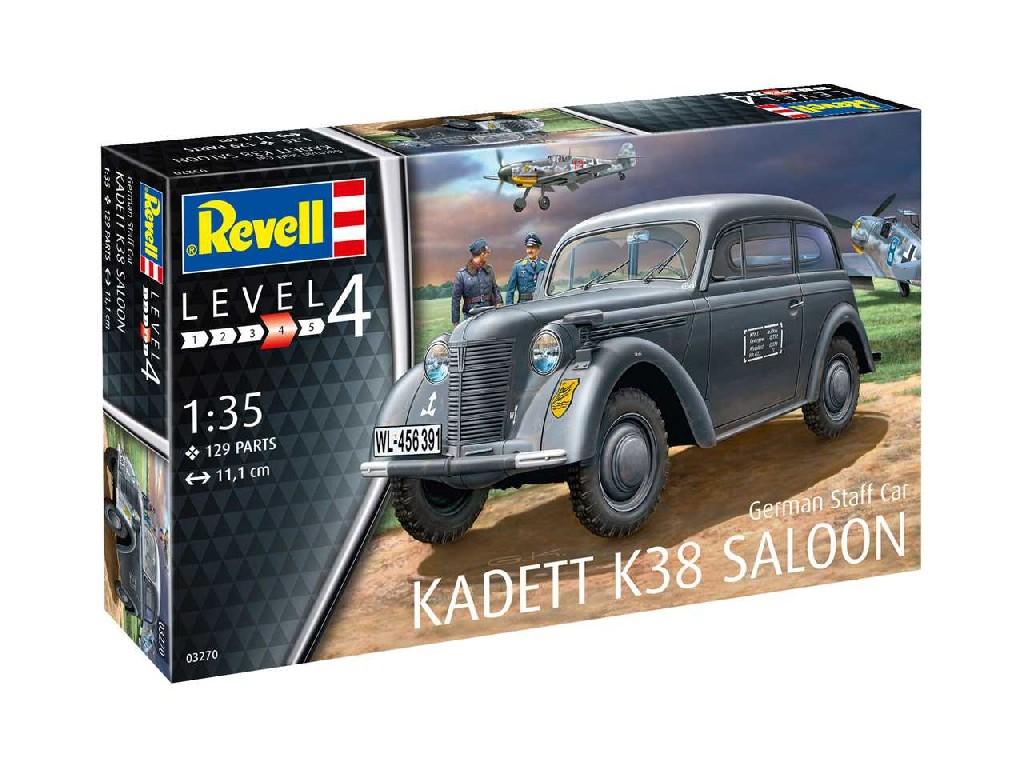 1/35 Plastikový model - military 03270 - German Staff Car KADETT K38 SALOON