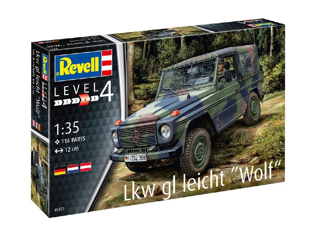1/35 Plastikový model - military 03277 - Lkw gl leicht Wolf