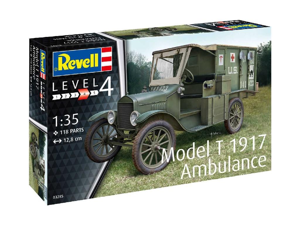 1/35 Plastikový model - military 03285 - Model T 1917 Ambulance