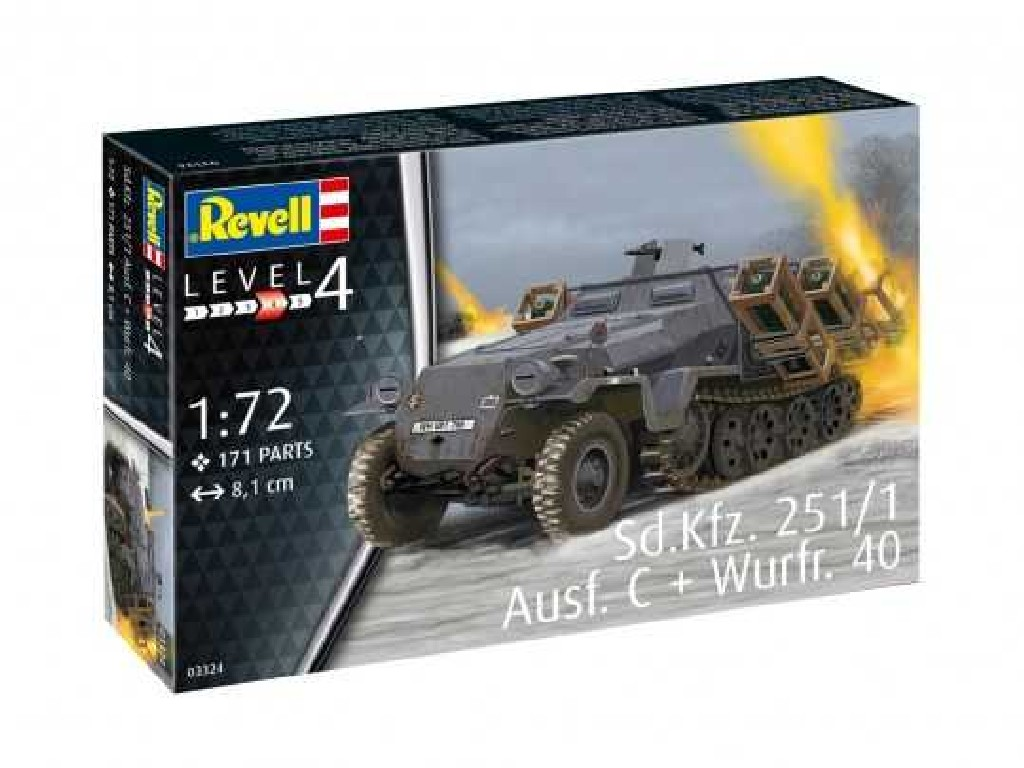 1/72 Plastikový model - military 03324 - Sd.Kfz. 251/1 Ausf. C + Wurfr. 40