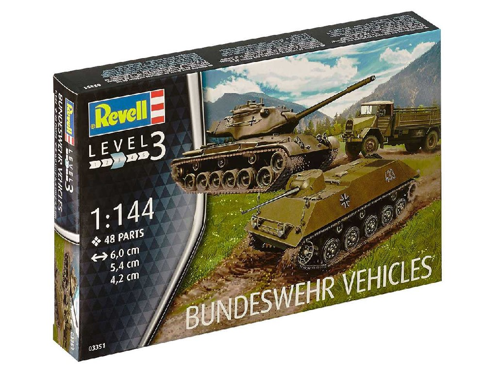 1/144 Plastic ModelKit military 03351 - Bundeswehr Vehicles M47 Patton and HS 30 and LKW 5t gl (Emma)
