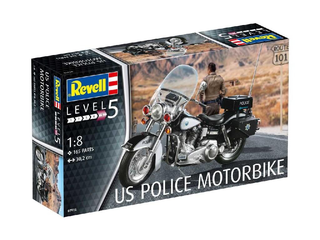 1/8 Plastikový model - motorka 07915 - US Police Motorbike
