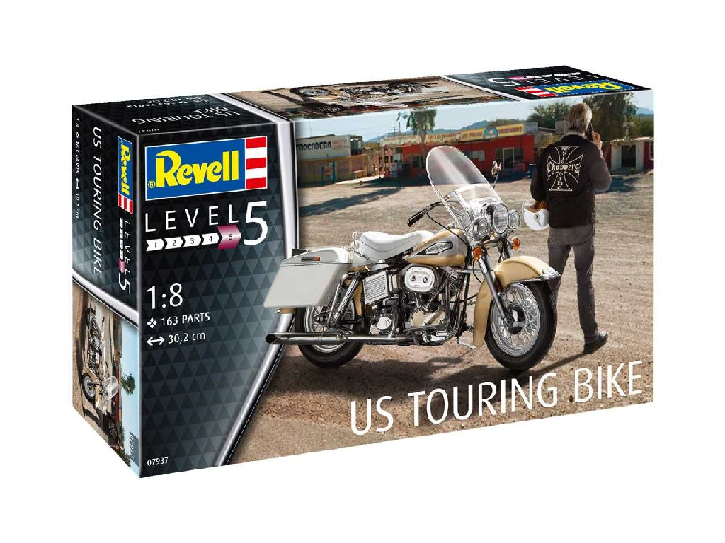 1/8 Plastikový model - motorka 07937 - US Touring Bike