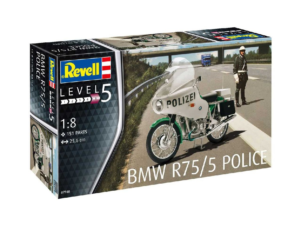 1/8 Plastikový model - motorka 07940 - BMW R75/5 Police