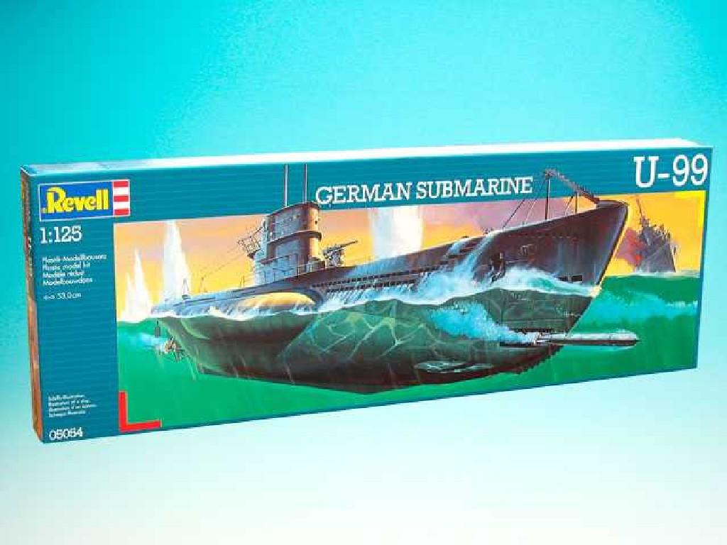 1/125 Plastikový model - ponorka 05054 - U99 U-Boat