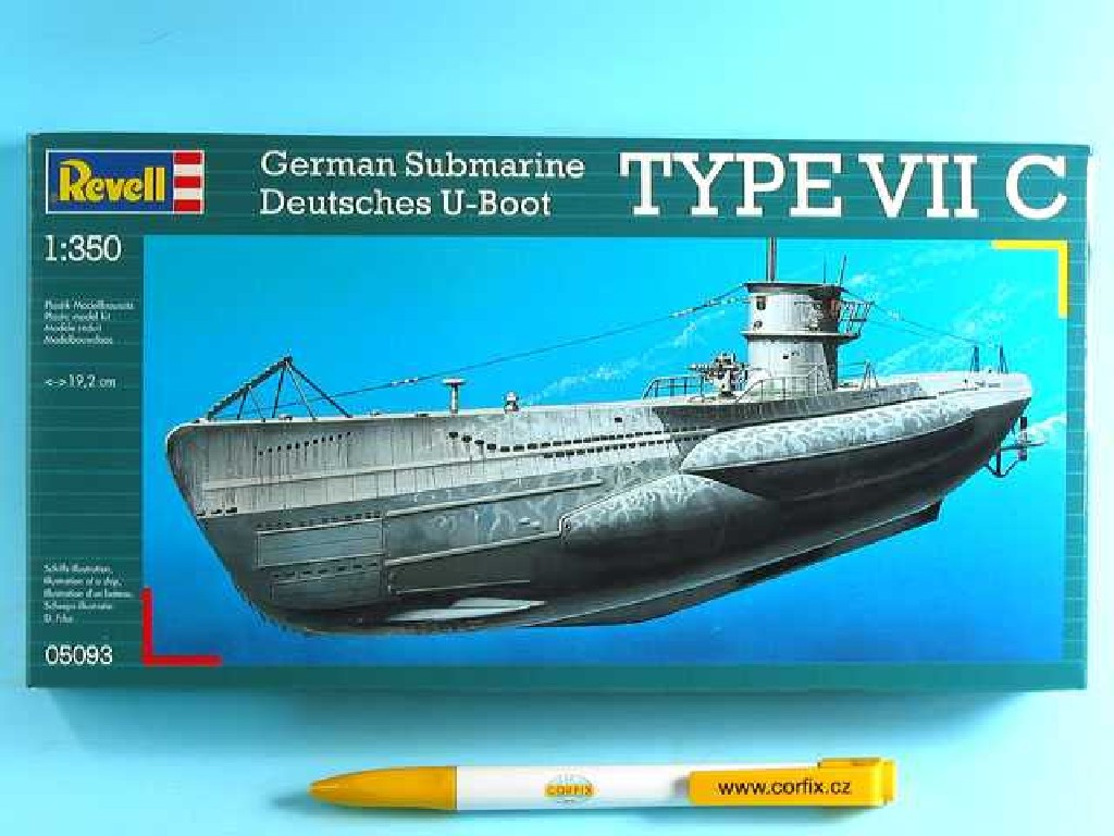 1/350 Plastikový model - ponorka 05093 - U-Boot Typ VIIC