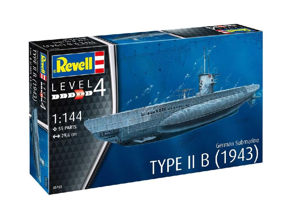 1/144 Plastikový model - ponorka 05155 - German Submarine Type IIB (1943)