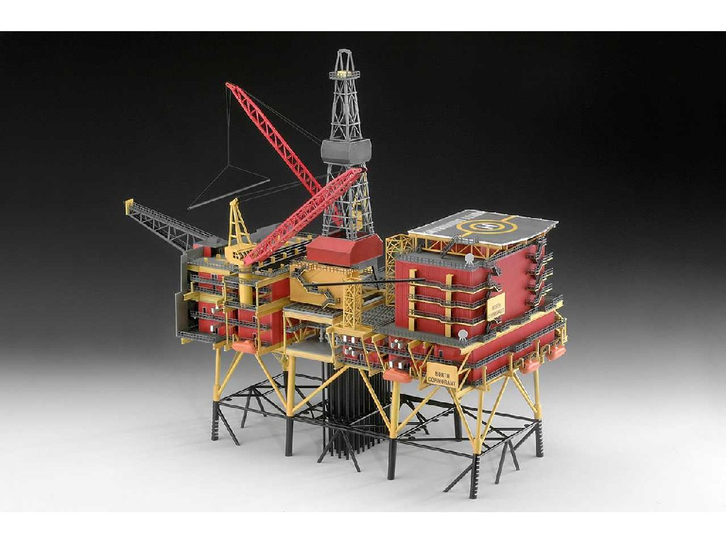 1/200 Plastic ModelKit ropná plošina Limited editions 08803 - Oilrig and North Cormorantand