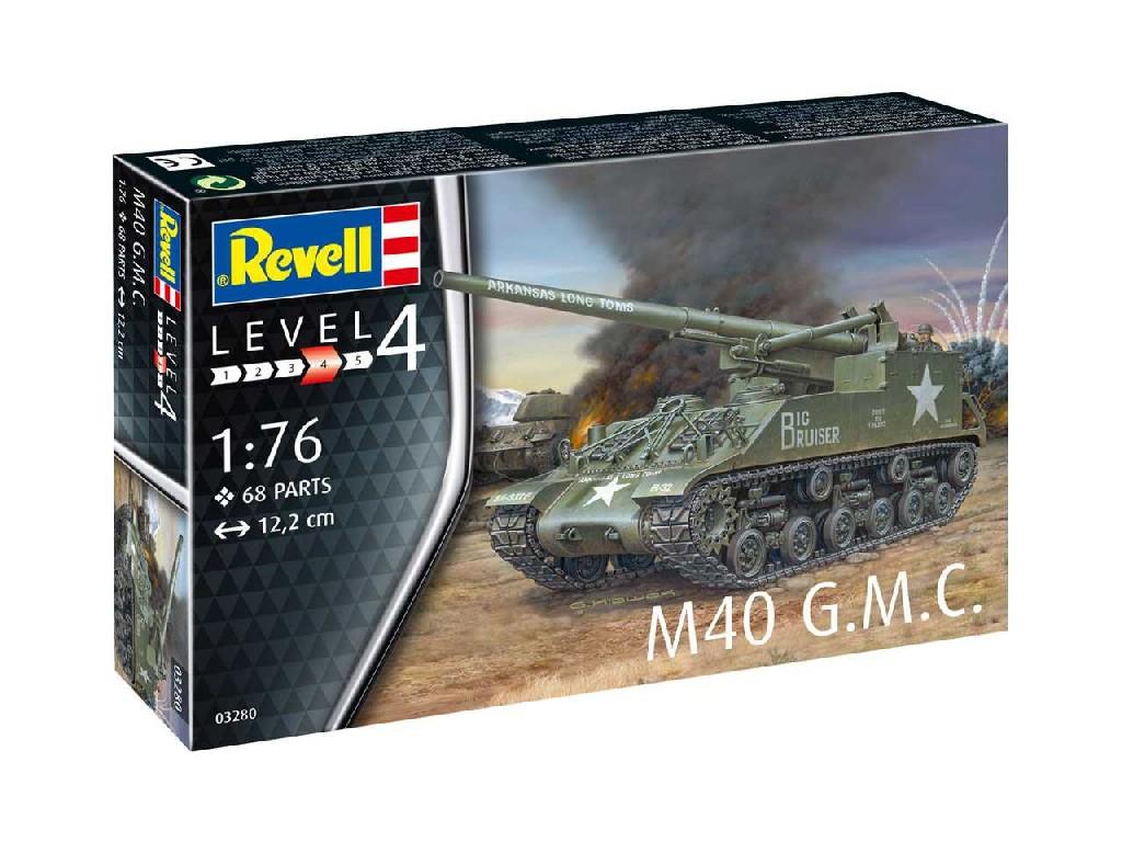 1/76 Plastikový model - tank 03280 - M40 G.M.C.