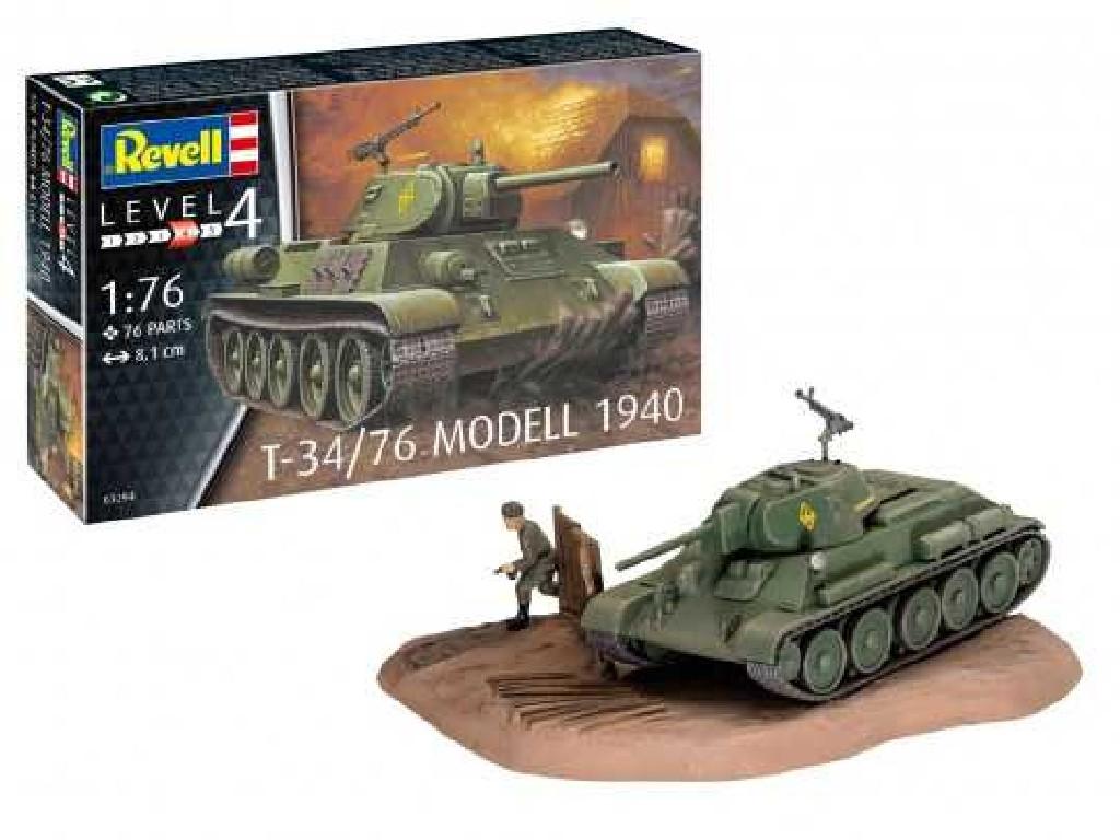 1/76 Plastikový model - tank 03294 - T-34/76 Modell 1940