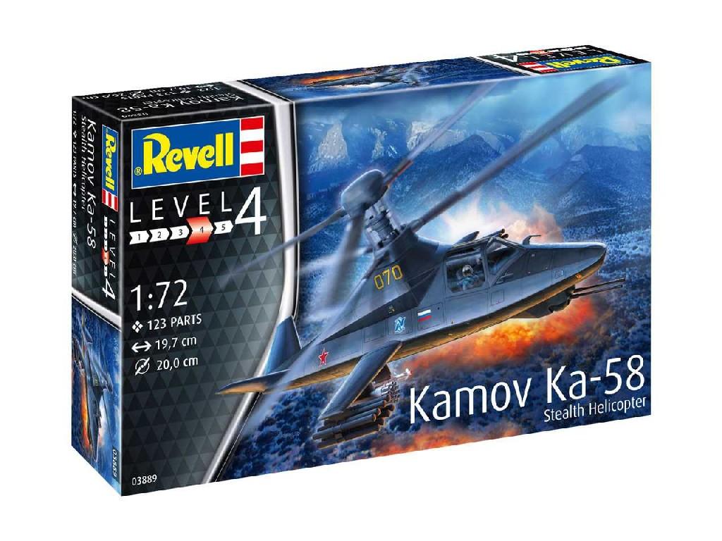 1/72 Plastikový model - vrtuľník 03889 - Kamov Ka-58 Stealth
