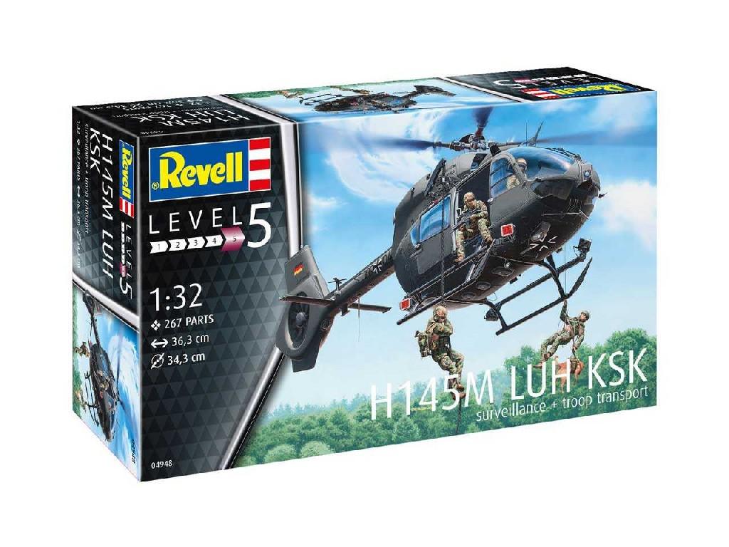 1/32 Plastikový model - vrtuľník 04948 - H145M LUH KSK