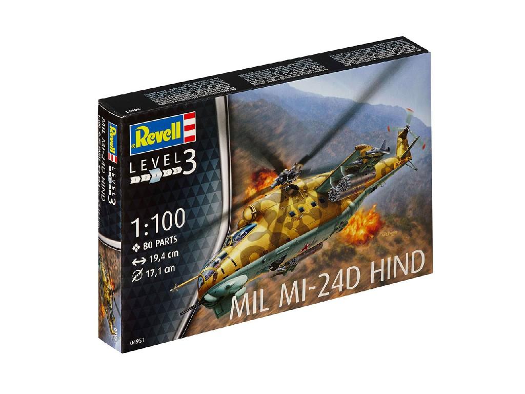 1/100 Plastikový model - vrtuľník 04951 - Mil Mi-24D Hind