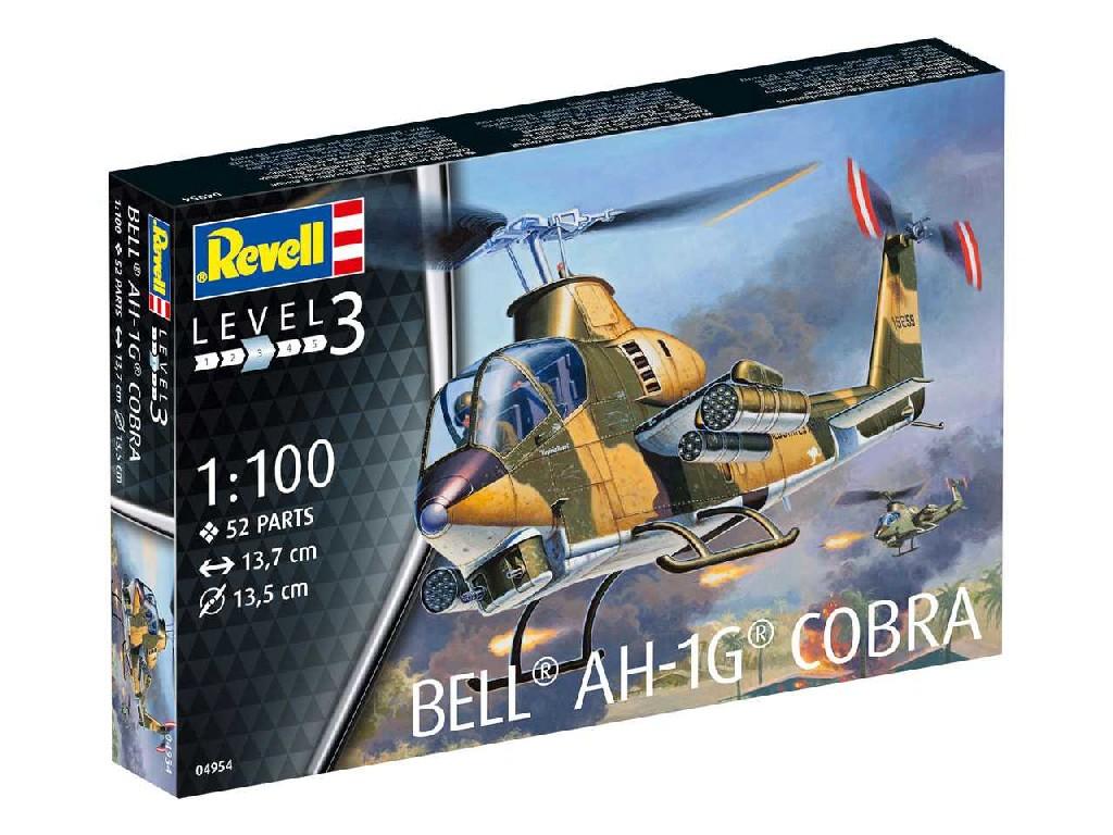 1/100 Plastikový model - vrtuľník 04954 - Bell AH-1G Cobra